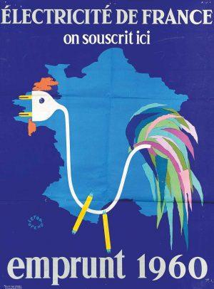 Maison de l'Epargne - Affiche Electricité de France emprunt 1960