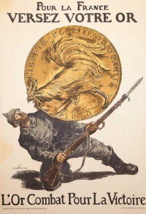 Maison de l'Epargne - Affiche Pour la France Versez Votre Or
