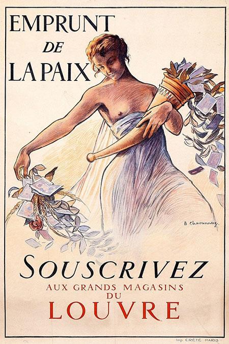 Affiche Maison de l'Epargne - Eprunt de la Paix Louvre