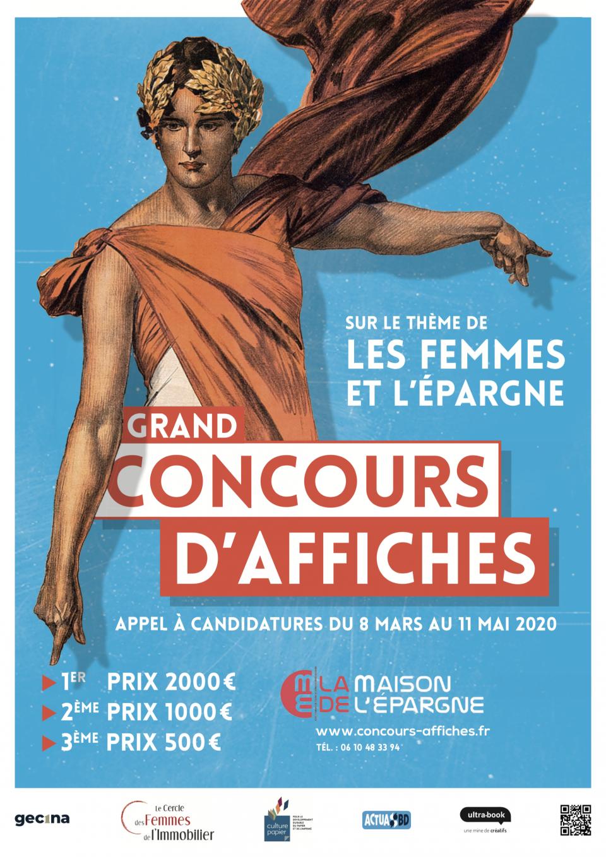 """Affiche du Concours """"Les Femmes et l'Épargne"""""""