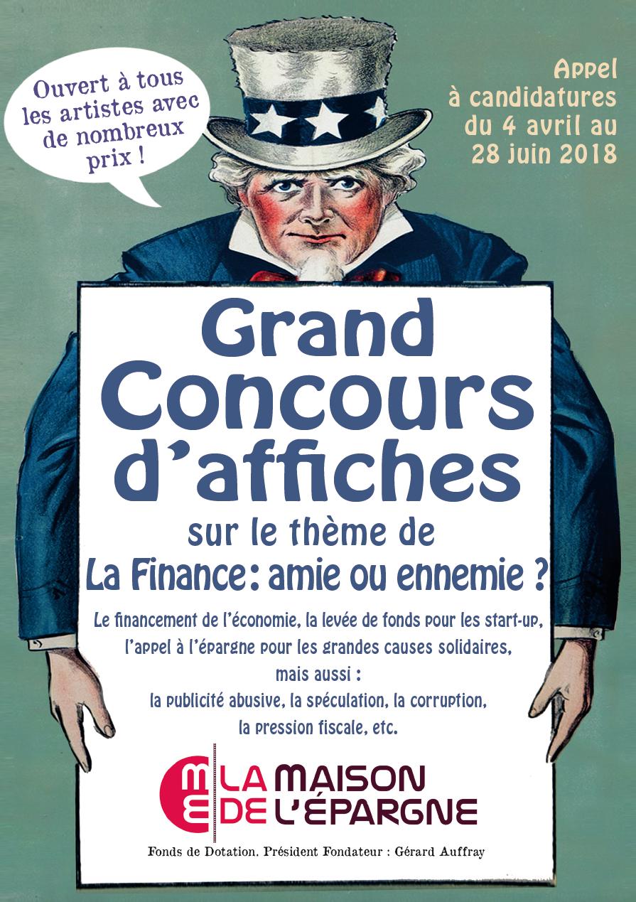 """Concours Affiches N°1 """"La Finance: amie ou ennemie?"""""""