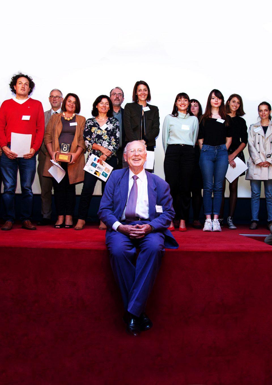 M. Auffray et les lauréats du Concours de 2018